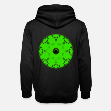 Reflective Green Reflection - Unisex Shawl Collar Hoodie