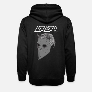 Ghost The Paintless Ghoul - Unisex Shawl Collar Hoodie