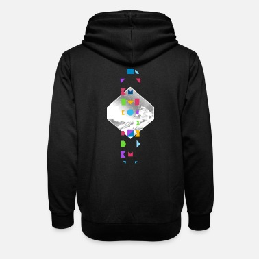 In winter with the snowboard through the powder snow - Unisex Shawl Collar Hoodie