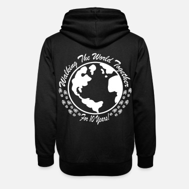Anniversary Gift for the 10th wedding anniversary - Unisex Shawl Collar Hoodie