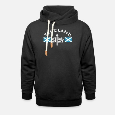 Scotland William Wallace - Unisex Schalkragen Hoodie