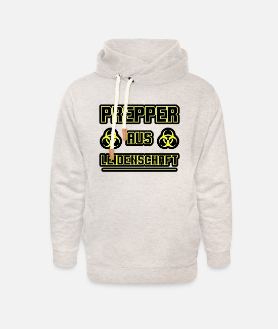 Present Hoodies & Sweatshirts - Prepper passionate gift - Unisex Shawl Collar Hoodie heather oatmeal