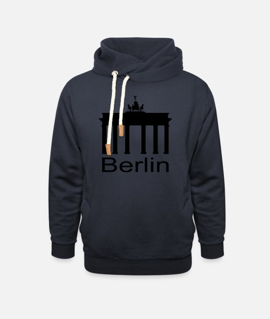 Television Tower Hoodies & Sweatshirts - Brandenburg Gate - Berlin - Unisex Shawl Collar Hoodie navy