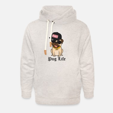 Gangster Hip Hop Dog Shirt Pug Life Gift - Unisex Shawl Collar Hoodie