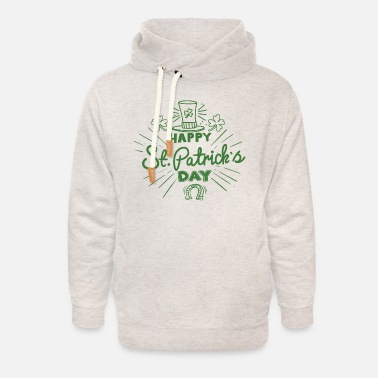 Drink St. Patrick's Day in green - Unisex Shawl Collar Hoodie