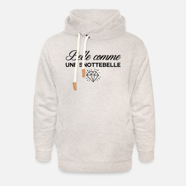Beautiful as snottebelle - Unisex Shawl Collar Hoodie