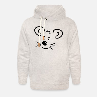 Little Mouse Little Mouse - Unisex Shawl Collar Hoodie