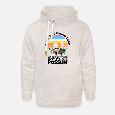 Possum Chill Out Hiking Team Possum's Hiking Team - Sudadera con capucha cuello alto unisex