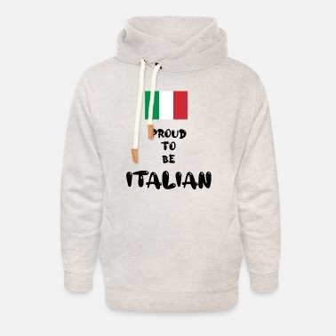 National Colours 'Proud To Be Italian' - Unisex Shawl Collar Hoodie