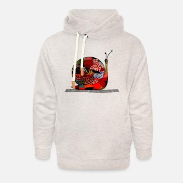 Snail Shell Snail - Unisex Shawl Collar Hoodie