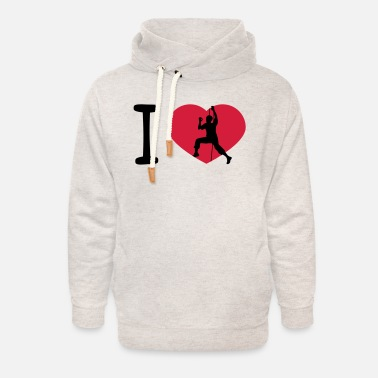 Mountain Climbing logo love i love heart mountaineer climbing mountains - Unisex Shawl Collar Hoodie