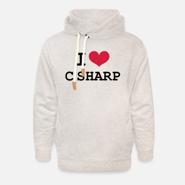 C Sharp I Love C Sharp [Developer / Geek] - Unisex Shawl Collar Hoodie