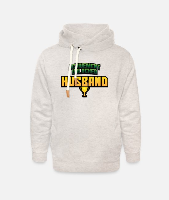 Groom Hoodies & Sweatshirts - Husband - Unisex Shawl Collar Hoodie heather oatmeal