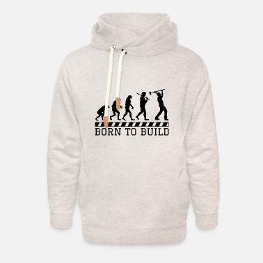 Worker Evolution construction worker occupation construction gift hammer - Unisex Shawl Collar Hoodie