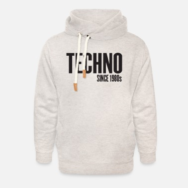 Music Techno Since 1980s - Unisex Shawl Collar Hoodie