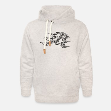 Flame Fire flame formation cool - Unisex Shawl Collar Hoodie