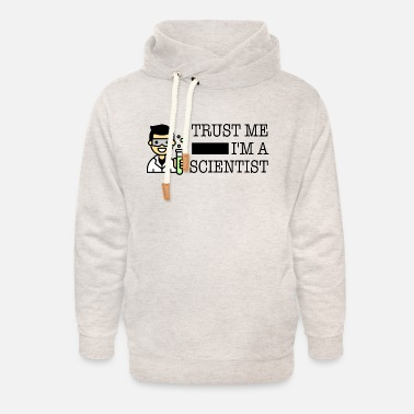 Trust me I'm a scientist male Asian - Unisex Shawl Collar Hoodie