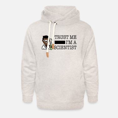 Trust me I'm a scientist male black - Unisex Shawl Collar Hoodie