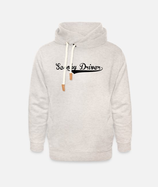 Batter Hoodies & Sweatshirts - scooby driver retro college baseball sty - Unisex Shawl Collar Hoodie heather oatmeal