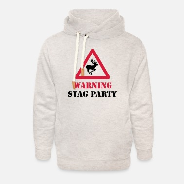 Stag Do Stag Party - Unisex Shawl Collar Hoodie