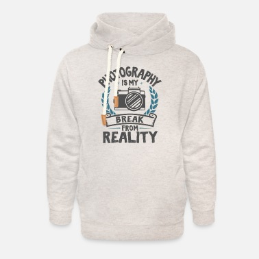 Meme Cool Funny Retro Photography Photographing Love - Unisex Shawl Collar Hoodie