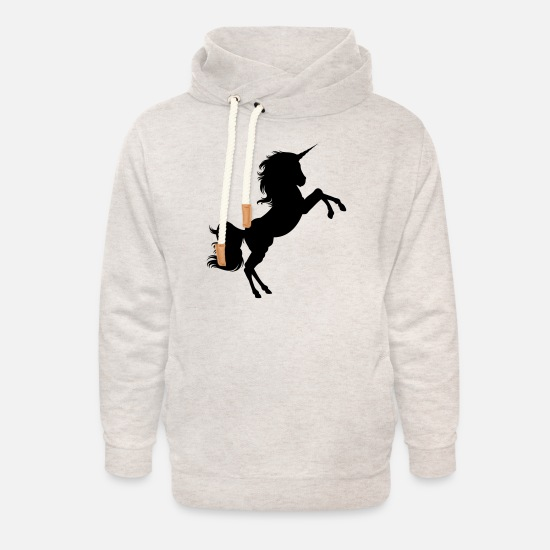 Unicorn Hoodies & Sweatshirts - unicorn - Unisex Shawl Collar Hoodie heather oatmeal