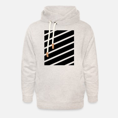 Strip Stripes - Hoodie med sjalkrage unisex
