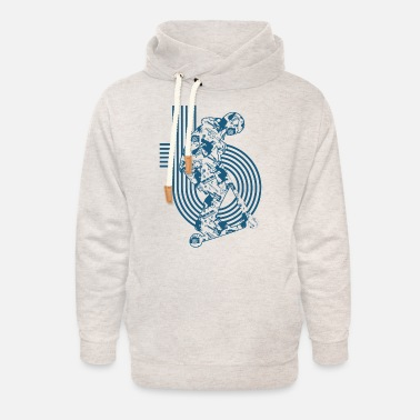 Cars stunt roller scooter scooter tretroll tretr - Unisex Shawl Collar Hoodie