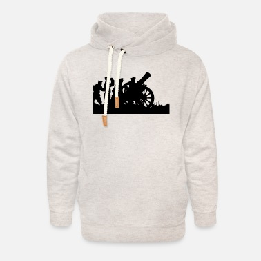 Cannon cannon - Unisex Shawl Collar Hoodie
