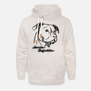 Staffy AMERICAN STAFFORDSHIRE TERRIER dog Wilsigns Staff - Unisex Shawl Collar Hoodie