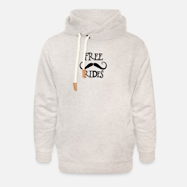 Free Moustache Rides - Unisex Shawl Collar Hoodie