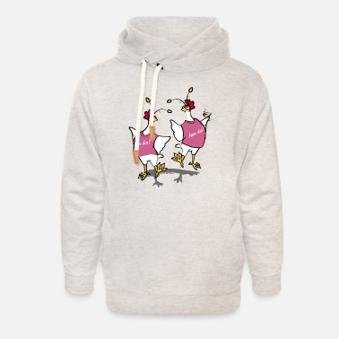 Party Hen Party (pink) - Unisex Shawl Collar Hoodie