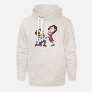 Get Engaged Getting Engaged - Unisex Shawl Collar Hoodie