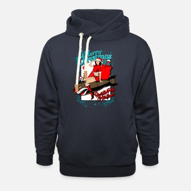 Christmas. North Pole Airlines. - Unisex Shawl Collar Hoodie
