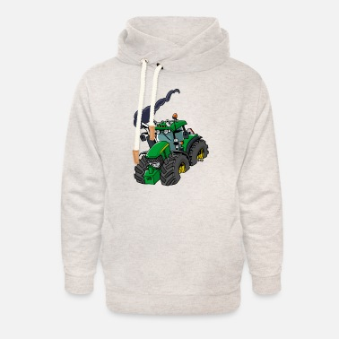 Green GREEN TRACTOR - Unisex Shawl Collar Hoodie
