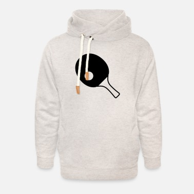Table Tennis Paddle table tennis paddle - Unisex Shawl Collar Hoodie