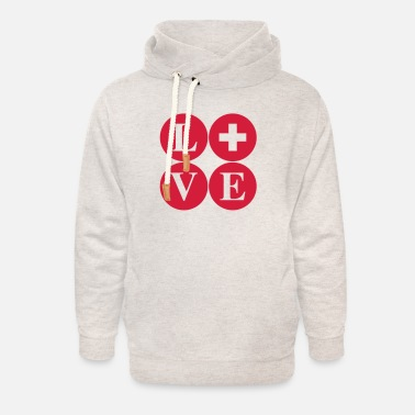 LoVE Switzerland - Unisex Shawl Collar Hoodie