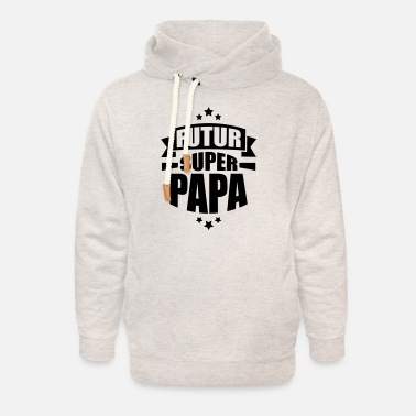 Parents annonce grossesse futur super papa - Sweat à capuche cache-cou unisexe