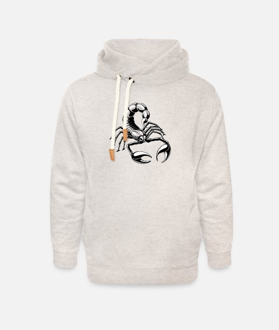 Scorpiones Hoodies & Sweatshirts - Scorpion - silver - grey - Unisex Shawl Collar Hoodie heather oatmeal