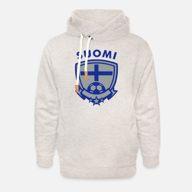 Shield Football Emblem (Suomi) - Unisex Shawl Collar Hoodie