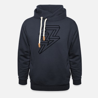 Lightning Hipster illusion Lighning bolt of lightning - Unisex Shawl Collar Hoodie