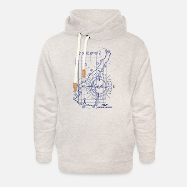 Garda Lakers compass map - Unisex Shawl Collar Hoodie