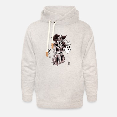 Venice T-shirts - Coffee Moka Express – Design - Unisex Shawl Collar Hoodie