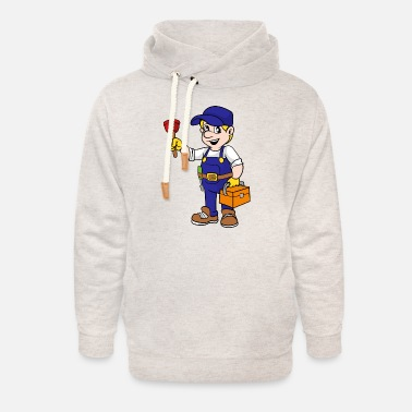 Gas Gas and water fitter - Unisex Shawl Collar Hoodie
