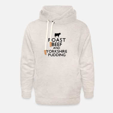 Roast Beef and Yorkshire Pudding - Unisex Shawl Collar Hoodie