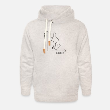 Nörd optisk illusion - Hoodie med sjalkrage unisex