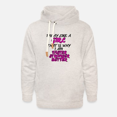 Girl Faster Stronger Better - Unisex Shawl Collar Hoodie