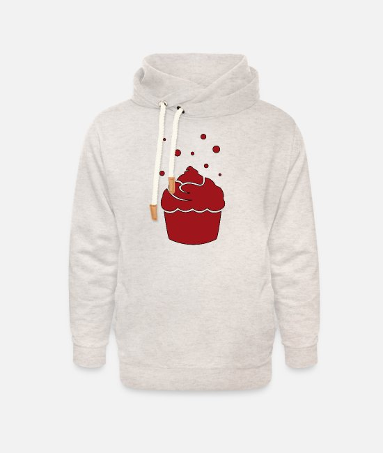 Cookie Hoodies & Sweatshirts - muffin - Unisex Shawl Collar Hoodie heather oatmeal