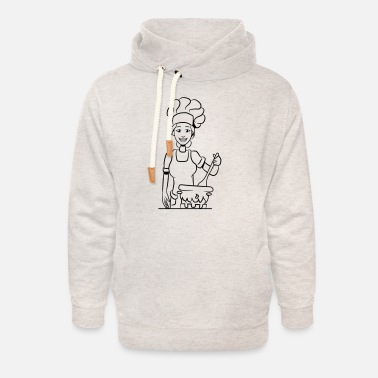 Cook Cook cook - Unisex Shawl Collar Hoodie