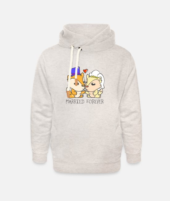 Heart Hoodies & Sweatshirts - Wedding marriage marriage marriage married - Unisex Shawl Collar Hoodie heather oatmeal
